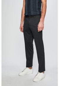 s.Oliver Black Label - Spodnie. Kolor: szary. Materiał: materiał. Wzór: gładki