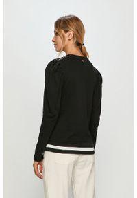 Czarna bluza Silvian Heach długa, na co dzień, klasyczna, bez kaptura