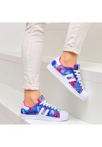 vices - Niebieskie sportowe buty damskie VICES Q44-11. Kolor: niebieski. Materiał: skóra