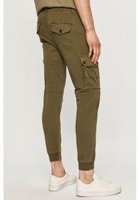 PRODUKT by Jack & Jones - Produkt by Jack & Jones - Spodnie. Okazja: na co dzień. Kolor: zielony. Materiał: tkanina. Wzór: gładki. Styl: casual