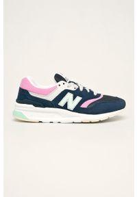 Niebieskie buty sportowe New Balance z cholewką, na sznurówki