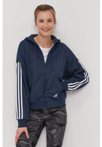 Adidas - adidas - Bluza. Kolor: niebieski. Materiał: poliester