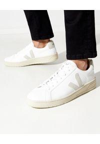 Veja - VEJA - Białe sneakersy Urca. Kolor: biały. Materiał: bawełna, materiał, zamsz, kauczuk, guma. Szerokość cholewki: normalna. Wzór: aplikacja
