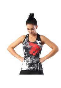 FJ! - Top TATTOO. Materiał: tkanina, skóra, lycra, poliester. Wzór: nadruk. Sport: joga i pilates, fitness