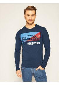 Niebieska koszulka z długim rękawem Superdry