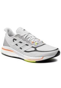 Adidas - Buty adidas - Supernova + M FX6651 Dshgry/Ftwwht/Scrora. Zapięcie: sznurówki. Kolor: szary. Materiał: materiał. Szerokość cholewki: normalna. Sport: bieganie