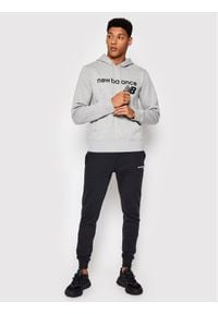 New Balance Bluza C C F Hoodie MT03910 Szary Relaxed Fit. Kolor: szary