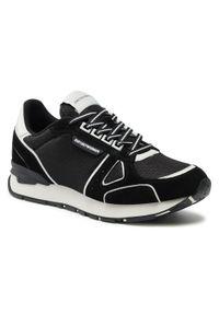 Emporio Armani - Sneakersy EMPORIO ARMANI - X4X544 XM727 N595 Blk/Off Wht/Blk/Off.. Okazja: na co dzień. Kolor: czarny. Materiał: skóra, materiał, zamsz. Szerokość cholewki: normalna. Styl: klasyczny, casual