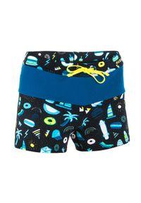NABAIJI - Bokserki Pływackie 100 Pool All Playo Dla Dzieci. Kolor: wielokolorowy, turkusowy, czarny, niebieski. Materiał: poliamid, materiał, poliester