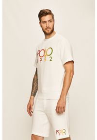 Biały t-shirt Polo Ralph Lauren polo, casualowy