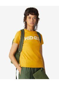 Żółty t-shirt Kenzo z aplikacjami, klasyczny, na co dzień