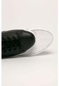 Czarne tenisówki Armani Exchange na sznurówki, z okrągłym noskiem, na średnim obcasie #4