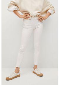 Białe jeansy mango gładkie