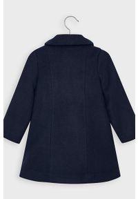 Niebieski płaszcz Mayoral bez kaptura