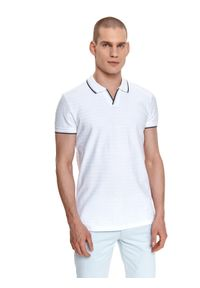 Biały t-shirt TOP SECRET polo