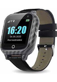 Smartwatch CALMEAN Senior Care Czarny. Rodzaj zegarka: smartwatch. Kolor: czarny