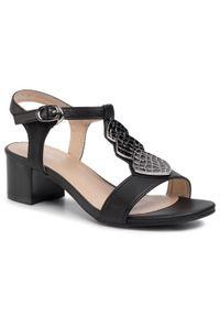 Czarne sandały Clara Barson na co dzień, casualowe