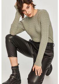 Miętowy sweter Answear Lab na co dzień, z długim rękawem, wakacyjny