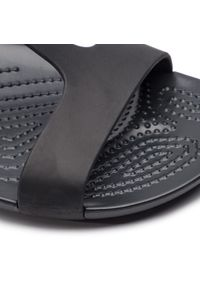 Czarne sandały Crocs casualowe, na co dzień