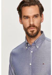 Niebieska koszula Tommy Hilfiger Tailored długa, z długim rękawem