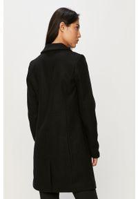 Czarny płaszcz only bez kaptura, na co dzień, klasyczny