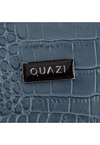 Niebieska torebka klasyczna QUAZI klasyczna