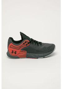 Szare buty sportowe Under Armour z cholewką, na sznurówki