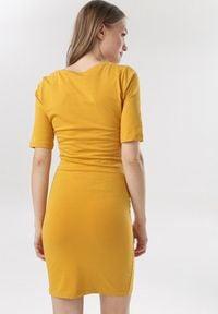 Born2be - Żółta Sukienka Diothise. Kolor: żółty