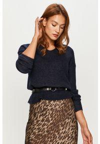Niebieski sweter Vero Moda casualowy, na co dzień