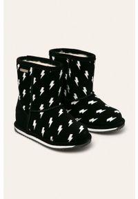 Czarne buty zimowe EMU Australia na zimę, z cholewką