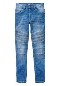 """Dżinsy chłopięce ze stretchem Skinny Fit bonprix niebieski """"stone"""". Kolor: niebieski"""