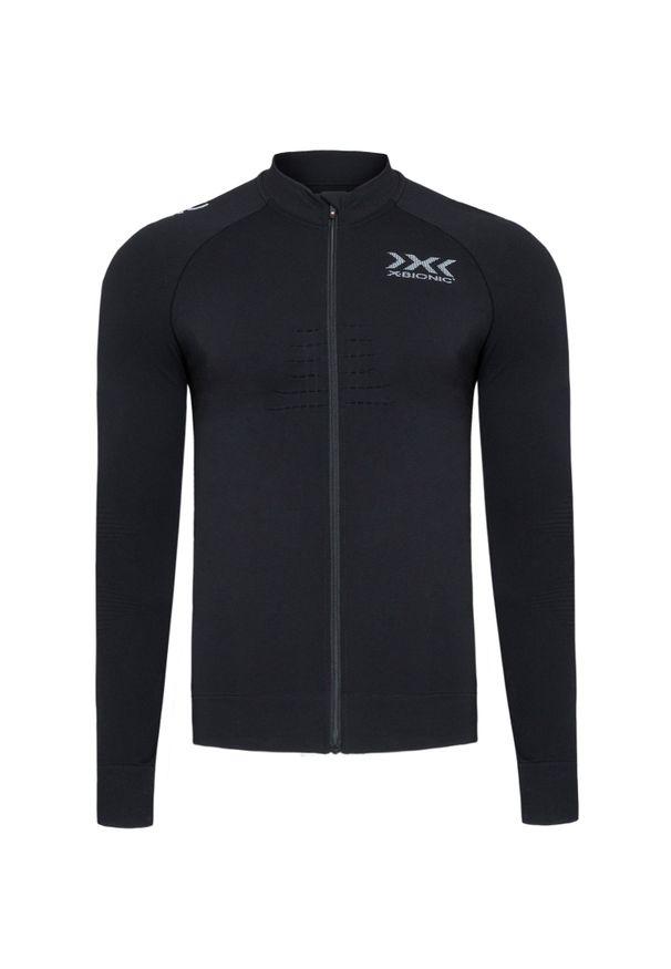 Czarna koszulka termoaktywna X-Bionic z dekoltem na plecach, na fitness i siłownię