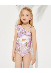 ZIMMERMANN KIDS - Asymetryczny strój jednoczęściowy w kwiaty 2-10 lat. Kolor: różowy, wielokolorowy, fioletowy. Wzór: kwiaty
