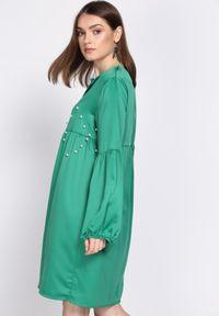 Zielona sukienka mini Born2be