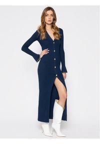 Patrizia Pepe Sukienka dzianinowa 8S0307/A6G6-C789 Granatowy Slim Fit. Kolor: niebieski. Materiał: dzianina