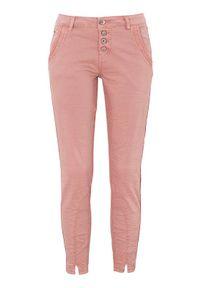 Różowe spodnie Cream klasyczne, z aplikacjami
