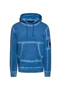 Niebieska bluza CP Company z kapturem, retro