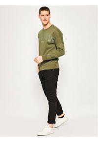G-Star RAW - G-Star Raw Bluza Heavy Sherland D16473-A613-B111 Zielony Regular Fit. Kolor: zielony