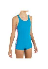 NABAIJI - Strój Jednoczęściowy Pływacki Dla Dzieci. Kolor: wielokolorowy, turkusowy, niebieski. Materiał: poliamid, materiał, elastan