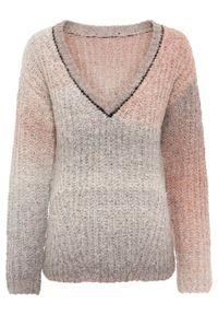 Brązowy sweter bonprix w paski