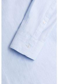 Niebieska koszula Mango Man z długim rękawem, klasyczna, z klasycznym kołnierzykiem