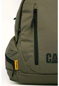 Oliwkowy plecak CATerpillar w paski