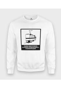 MegaKoszulki - Bluza klasyczna Tramwaj. Styl: klasyczny
