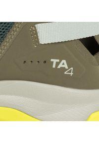 Zielone buty trekkingowe salomon z cholewką, trekkingowe
