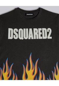 DSQUARED2 KIDS - Bawełniany t-shirt z grafiką płomienia 4-14 lat. Kolor: czarny. Materiał: bawełna. Sezon: lato. Styl: klasyczny #2