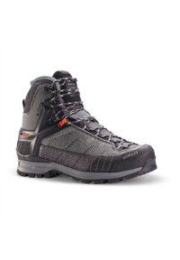 FORCLAZ - Buty trekkingowe damskie wodoodporne Forclaz Trek 500 Matryx®. Wysokość cholewki: przed kolano. Kolor: szary. Materiał: kauczuk, materiał. Szerokość cholewki: normalna