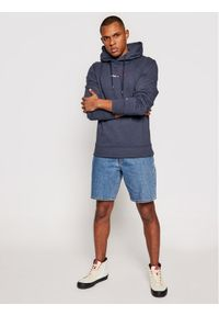 Tommy Jeans Bluza Tjm Straight Logo DM0DM10190 Granatowy Regular Fit. Kolor: niebieski