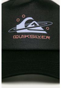 Czarna czapka z daszkiem Quiksilver z nadrukiem
