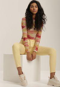 Żółte spodnie skinny Renee #5