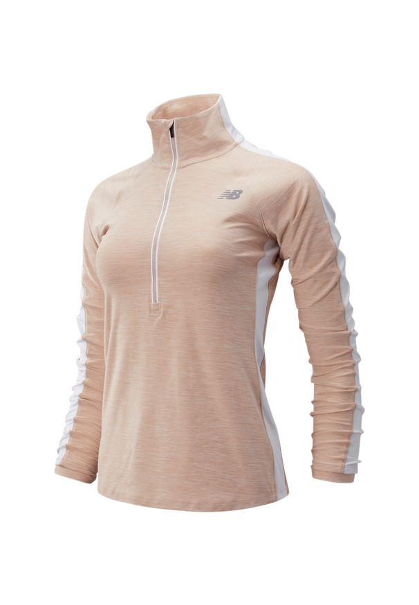Bluza sportowa New Balance ze stojącym kołnierzykiem, na jesień, z długim rękawem, długa
